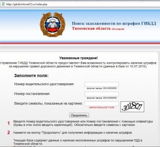 штрафы ГИБДД по постановлению онлайн. Официальный сайт